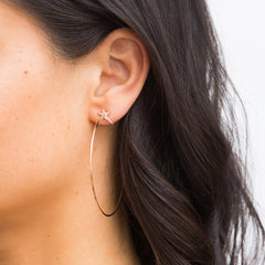 Diane Kordas Star Hoop Earrings