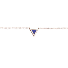 Diane Kordas Jewellery Lapis Triangle Evil Eye Necklace 18kt gold