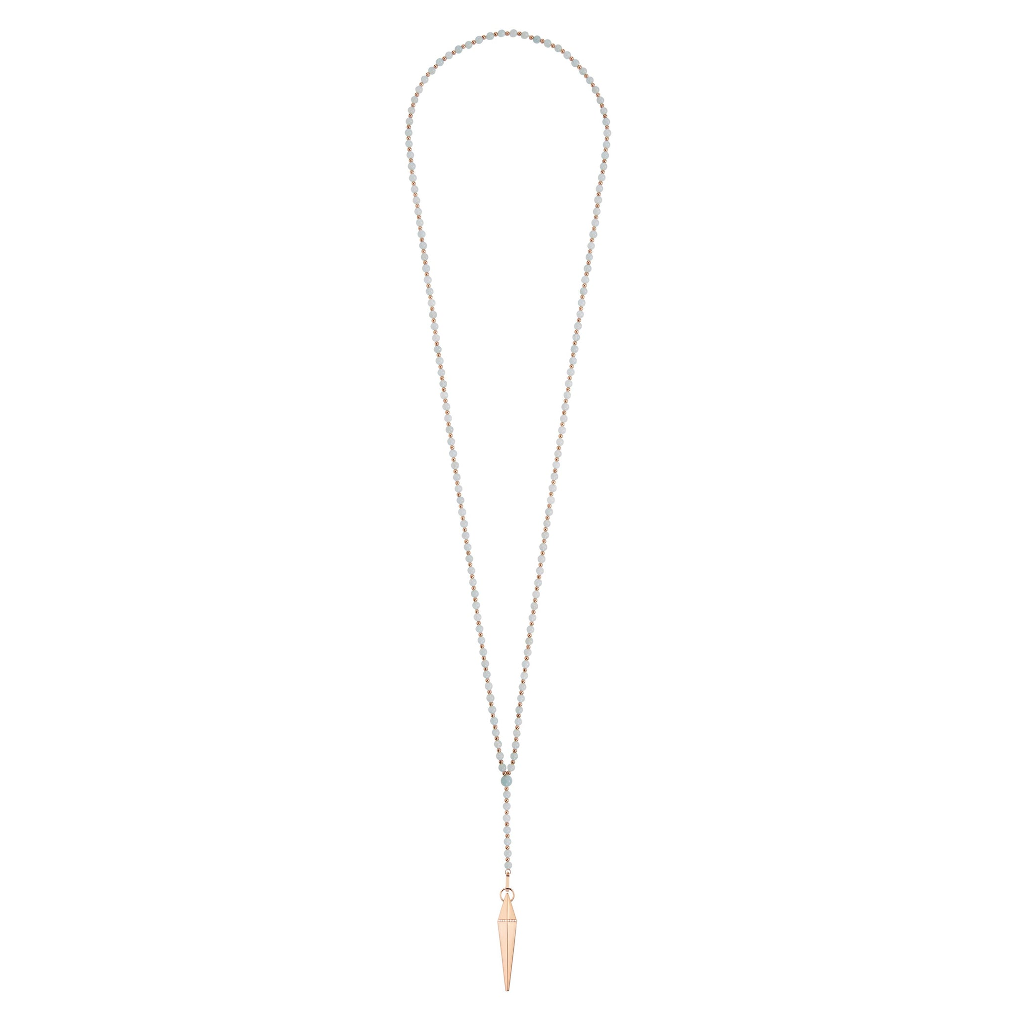 Diane Kordas Aquamarine Spear Necklace