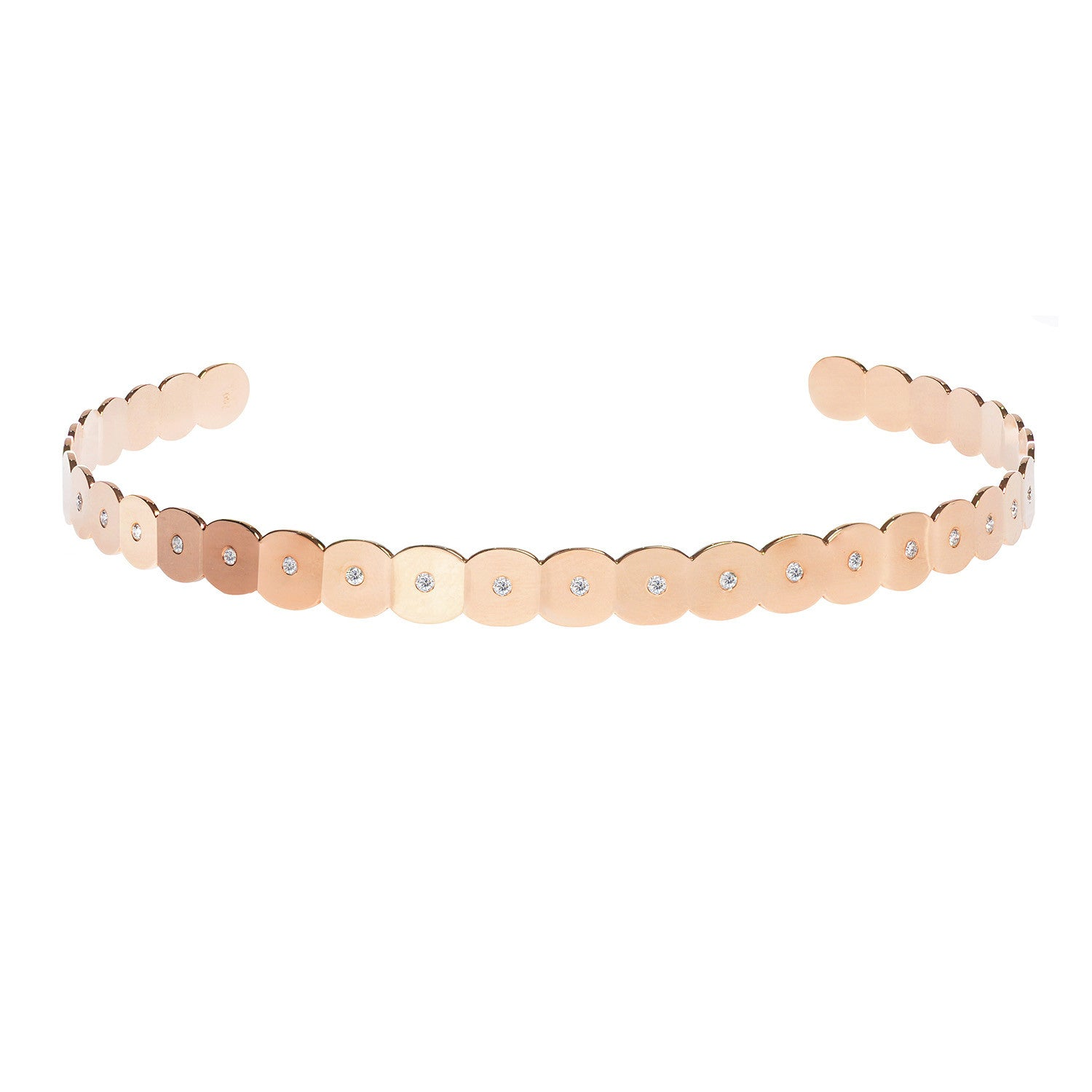 Diane Kordas Diamond 18k Rose Gold Armour Choker