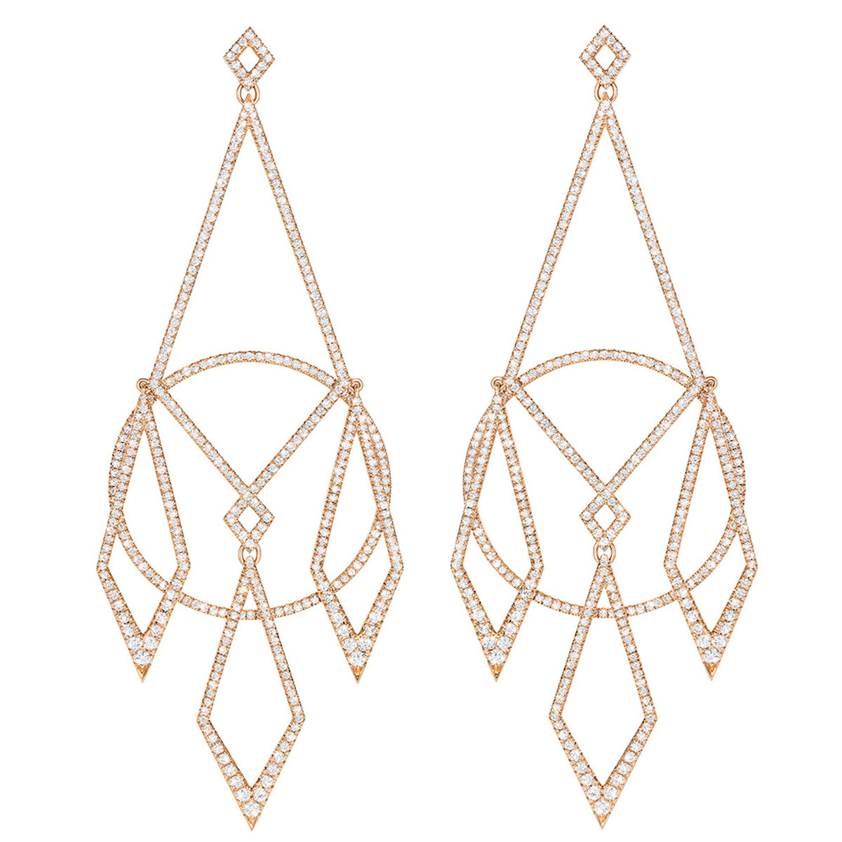 Diane Kordas Diamond Chandelier Earrings