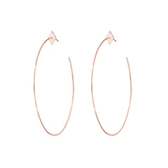 Diane Kordas Diamond Shape Hoop Earrings