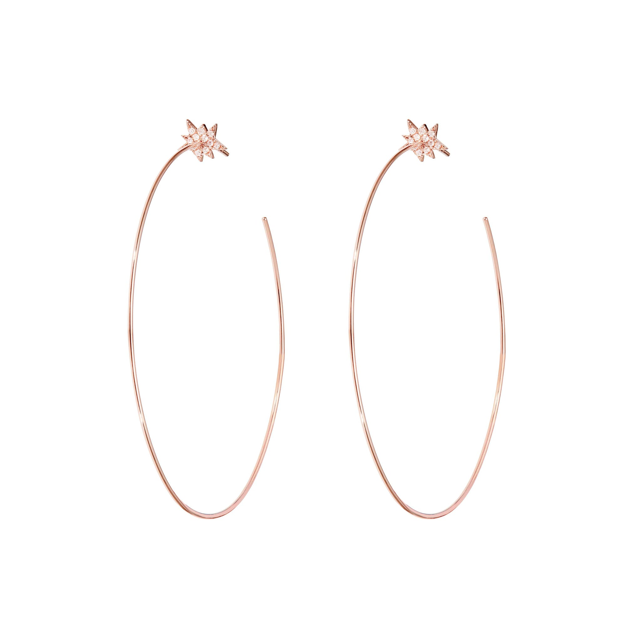 Diane Kordas Gold Explosion Hoop Earrings