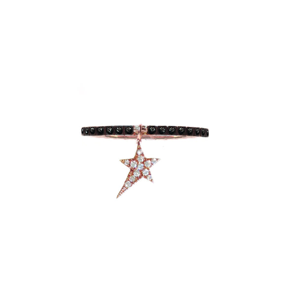 Cosmos White Star Charm Ring