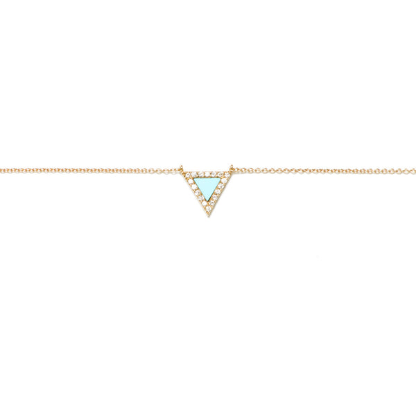 Turquoise Triangle Evil Eye Necklace