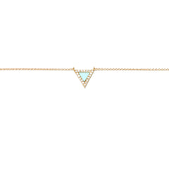 Diane Kordas Jewellery Turquoise Triangle Evil Eye Necklace 18kt gold
