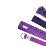 Natural Jute Yoga Mat Set - Purple