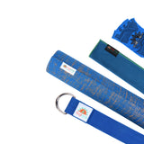 Natural Jute Yoga Mat Set - Blue