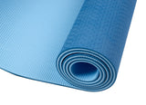 Dual-sided TPE Yoga Mat Set - Blue-Dark Blue