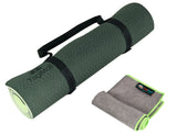 Dual-sided TPE Yoga Mat Set - Green-Black