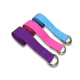 Cotton Yoga Strap - Pink Blue Purple