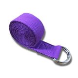 Cotton Yoga Strap - Purple