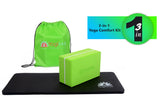Yoga Knee Pad, Yoga Block and Carry Bag - Green
