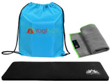 Yoga Knee Pad, Hand Towel, Drawstring Bag Set - Blue