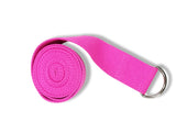 Cotton Yoga Strap - Pink