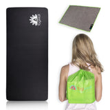 Yoga Knee Pad, Hand Towel, Drawstring Bag Set - Green