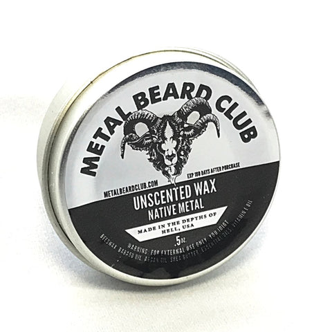 UNSCENTED STACHE WAX - NATIVE METAL