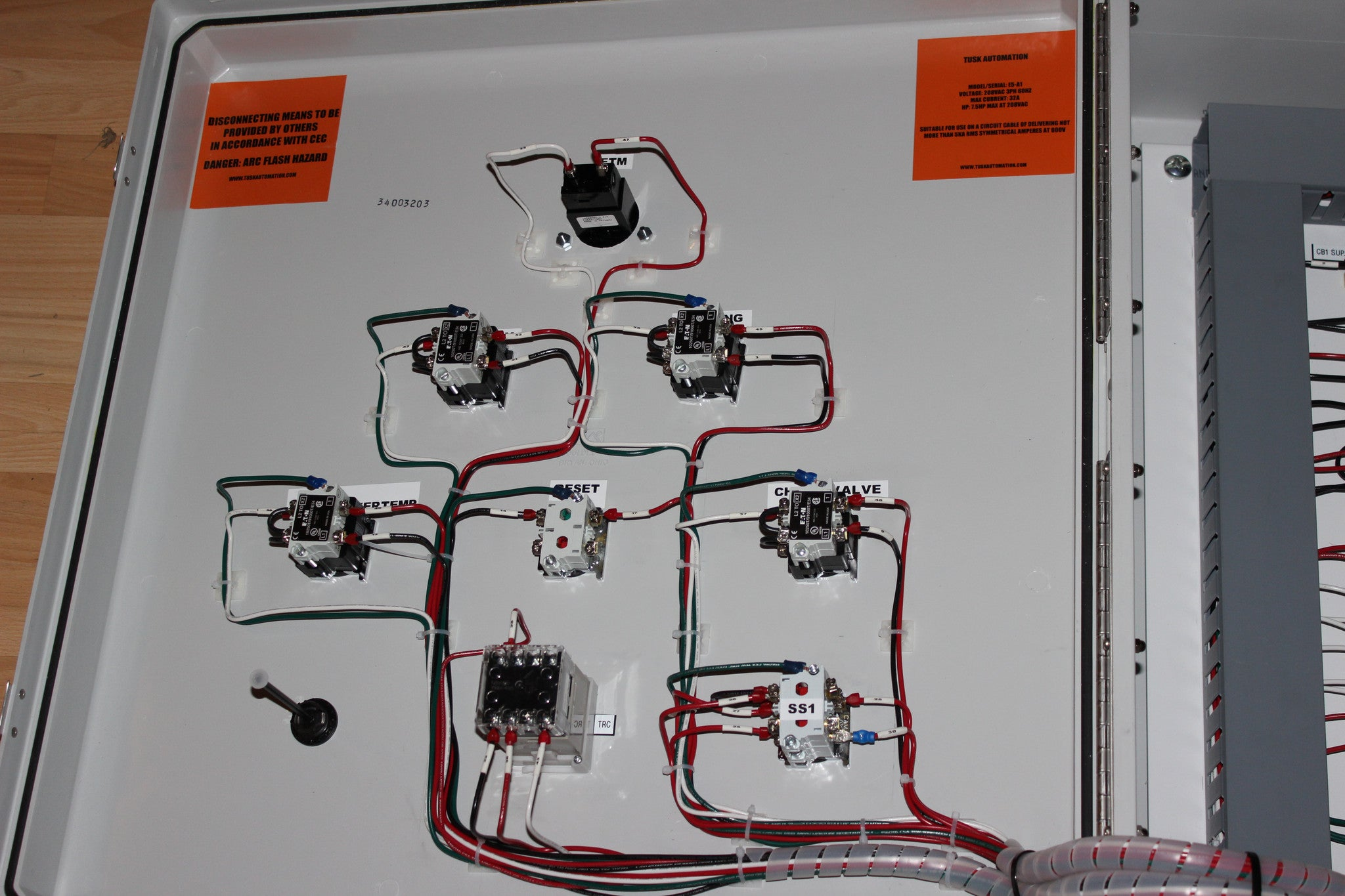 Relay Circuit Diagram In Plc Panels Trusted Schematics Control Wiring Of Tusk Automation Inc Esd