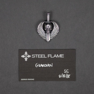 Accessories - Pre-Owned: Steel Flame Guardian Pendant - Sterling Silver (Custom)