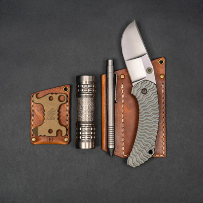 Flashlight - CWF & Ti2 Design Pele Flashlight - Titanium Paisley (Custom)