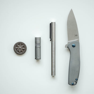 Flashlight - Muyshondt Maus Mk. I - Bead Blasted Titanium (Limited)