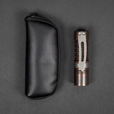 Flashlight - Pre-Owned: Barrel Flashlight Co. Flashlight - Copper W/ Milled Clip