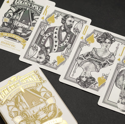 Game - Black Ink Playing Cards - Golden Spike (Gold Edition)