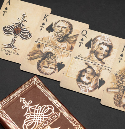 Game - Black Ink Playing Cards - Inception Illustratum Standard