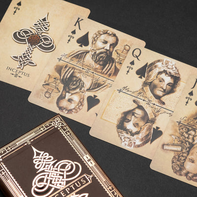 Game - Black Ink Playing Cards - Inception Inceptus Standard