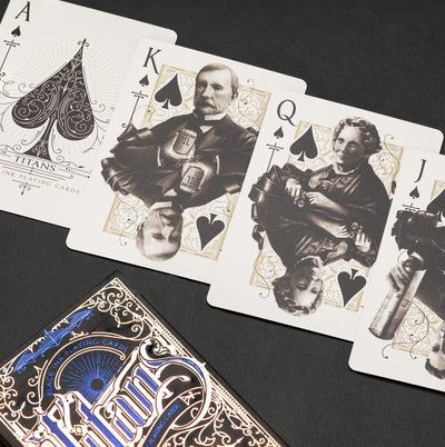 Game - Black Ink Playing Cards - Titans & Robber Barons - Black Edition