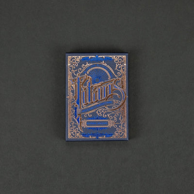 Game - Black Ink Playing Cards - Titans & Robber Barons - Blue Edition
