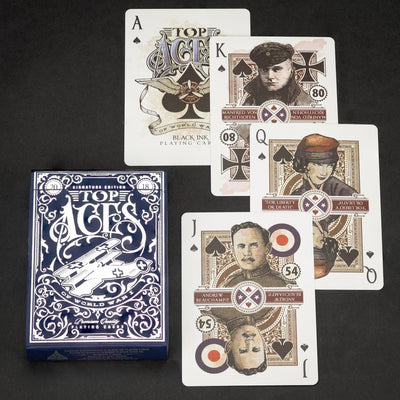 Game - Black Ink Playing Cards - Top Aces Of WWI - Limited Edition