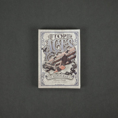 Game - Black Ink Playing Cards - Top Aces Of WWI Standard