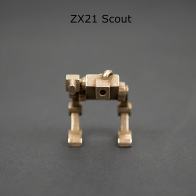 Game - Pre-Order: RoosterDog Designs Mech Figurines - Bronzed-Silver Steel (Pre-Order Ends 12/7, Ships Mid-January)