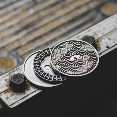 Game - Umburry Super Click Haptic Coin With Seigaiha Motif - Titanium (Exclusive)