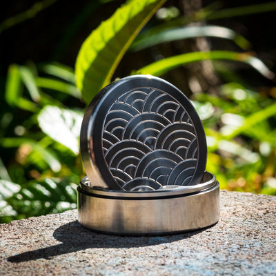 General Store - HogDoggins Pocket Puck - Titanium W/ Seigaiha Motif (Exclusive)