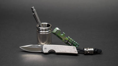 "JW Knives ""Double Shot"" Shot Glass - Stainless Steel"