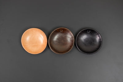 Mr. Hide Leather Sundries Molded Leather Round Tray