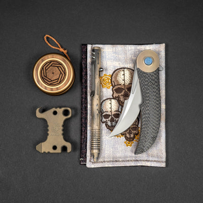General Store - Pre-Order: Lowkey Throws Pocket Yo-Yo - Walnut And Bronze  (Ships Mid-November)
