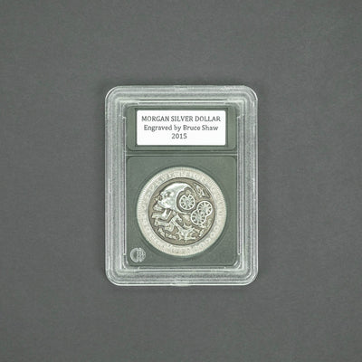General Store - Pre-Owned: Morgan Silver Dollar - Engraved By Bruce Shaw