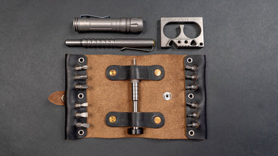Scout Leather Co. Hex Bit Driver Tool Roll