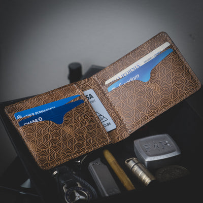 General Store - WKRMN Seigaiha Wallet - Leather (Exclusive)