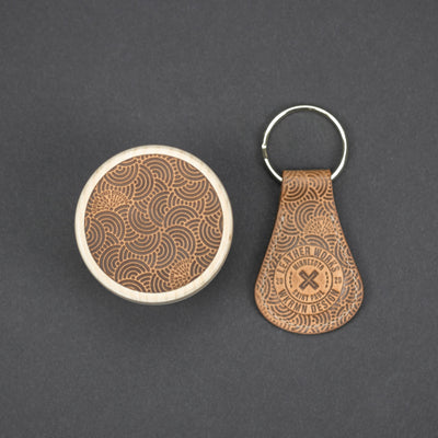 General Store - WKRMN Wall Puck & Key Fob Set - Seigaiha Pattern (Exclusive)