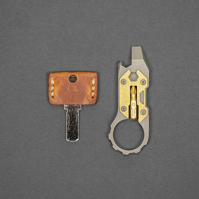 Keychains & Multi-Tools - DE Custom Forge Cayman Prybar - Brass