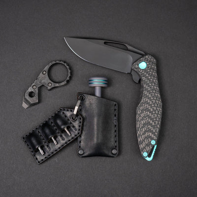Keychains & Multi-Tools - JW Knives Hybrid G5 Bandicoot - Marbled Carbon Fiber (Exclusive)