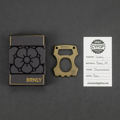 Keychains & Multi-Tools - Pre-Owned: Burnley Cypop - .25 Brass Toothy Rose (Custom)