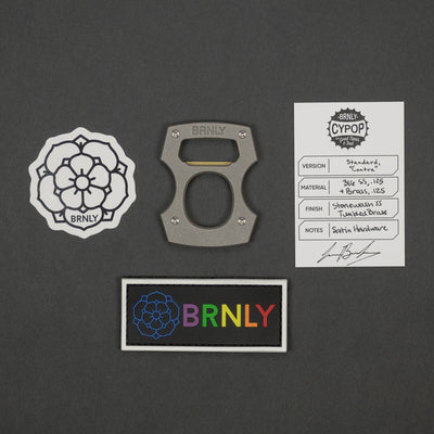 Keychains & Multi-Tools - Pre-Owned: Burnley Designs Contra Cypop - Stainless & Brass