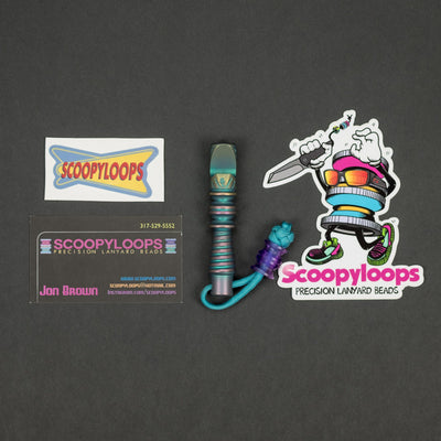 Keychains & Multi-Tools - Pre-Owned: Scoopyloops Drink Tank - Titanium W/ Purple Rain Bead