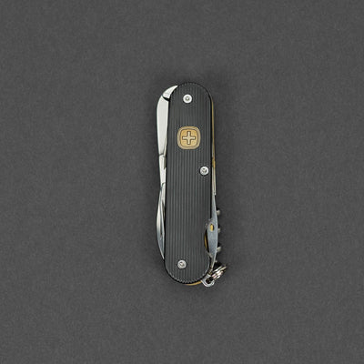 Rain.Z Cigar 79 Custom Swiss Army Knife (85mm) - Blackened Titanium (Custom)