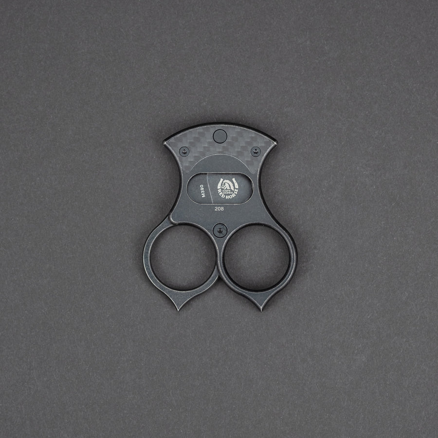 Red Horse Knife Works Condor Cigar Cutter - Blackwashed Carbon Fiber (Exclusive)